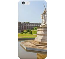 Queen Victoria in front of Kensington Palace iPhone Case/Skin