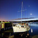 Boatshed and Boat, Margate, Tasmania by Chris Cobern