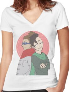 jude sharp & caleb stonewall Women's Fitted V-Neck T-Shirt