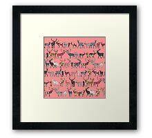 spice deer blush salmon Framed Print