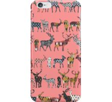 spice deer blush salmon iPhone Case/Skin