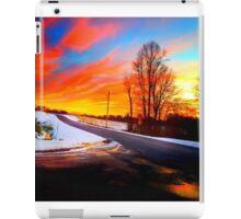 Sunset in snow iPad Case/Skin