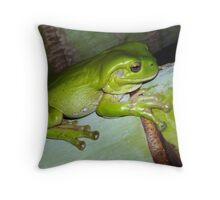 Frog Cushion #1  Throw Pillow