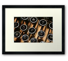 The Old Typewriter Framed Print