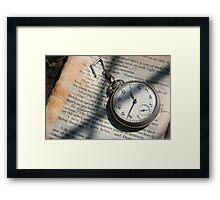 Pocket-watch Literature  Framed Print