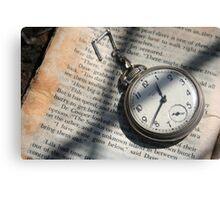 Pocket-watch Literature  Canvas Print