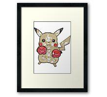 Pikachu Doodle  Framed Print