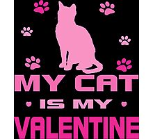 My Cat is My Valentine Photographic Print