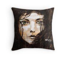 Green Eyes (cushion) Throw Pillow