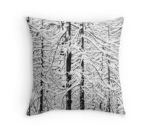 Snowy trees in winter Throw Pillow