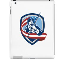 American Patriot Soldier Waving Flag Shield iPad Case/Skin