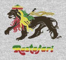 Reggae Rasta, Rastafari Lion One Piece - Long Sleeve