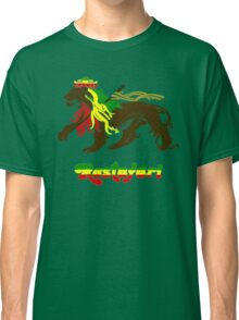 Reggae Rasta, Rastafari Lion Classic T-Shirt