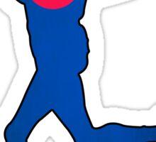 Colorado flag runner Sticker