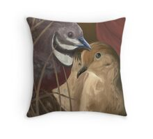 Quail and Mourning Dove Throw Pillow