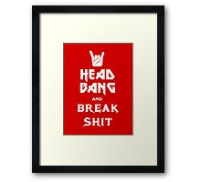 Head Bang (Metal Fonts) Framed Print
