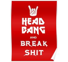 Head Bang (Metal Fonts) Poster