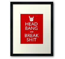 Head Bang Framed Print