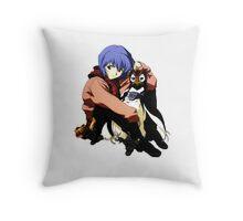 Rei and Pen Throw Pillow