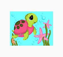 Pink Sea Turtle Starfish Ocean Scene Unisex T-Shirt