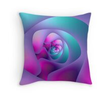 Spiral Labyrinth Throw Pillow