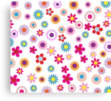 Cheerful Floral Canvas Print