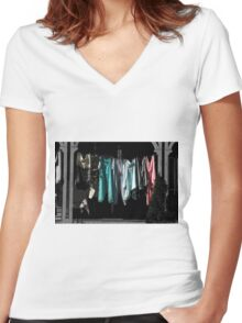 Wind Chimes Women's Fitted V-Neck T-Shirt