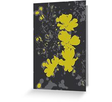 Yellow bush flower Greeting Card
