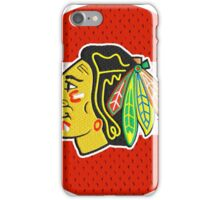 Chicago Blackhawks Jersey Logo - Round iPhone Case/Skin