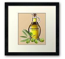 Extroversion Olive Oil Framed Print