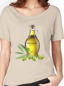 Extroversion Olive Oil Women's Relaxed Fit T-Shirt