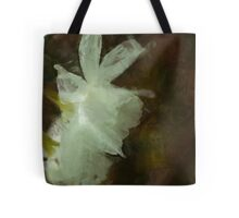 White Daffodils Floral Impressionist Painting Tote Bag