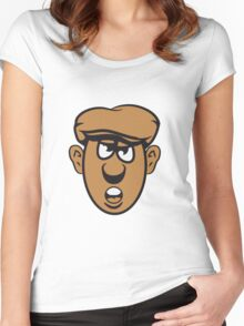 Face Cap evil Women's Fitted Scoop T-Shirt