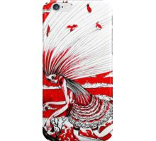 the bird gatherer (red ink) iPhone Case/Skin