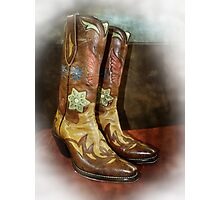 Take A Walk in My Boots Photographic Print