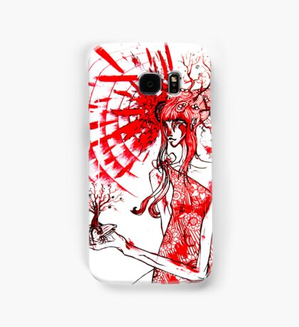 the tree gardener (red ink) Samsung Galaxy Case/Skin