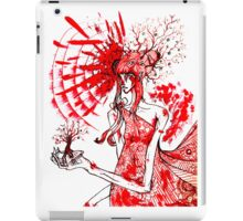 the tree gardener (red ink) iPad Case/Skin