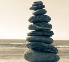 Zen stone stack Sticker