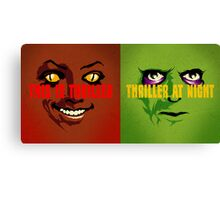 Thriller at Night | Double Feature Canvas Print