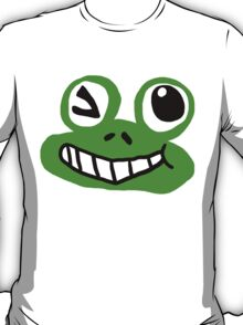 Flirting Frog Graphic T-Shirt T-Shirt