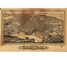 Aerial View of Woburn Massachusetts (1883) Photographic Print