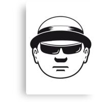 Face Hat business man Canvas Print
