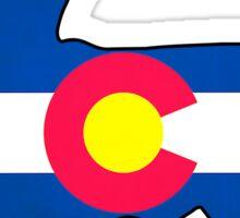 Colorado flag chihuahua dog Sticker