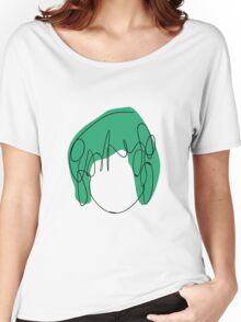 Ramona Flowers - Green Women's Relaxed Fit T-Shirt