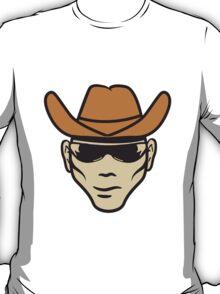 Face Hat cowboy sunglasses T-Shirt