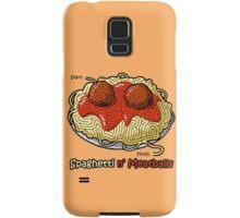 Maze Shirts: Spaghetti 'n Meatballs! Samsung Galaxy Case/Skin