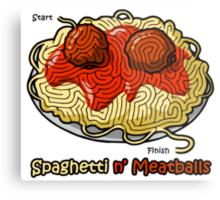 Maze Shirts: Spaghetti 'n Meatballs! Metal Print