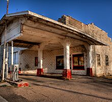 Abandoned Gas Station by Diana Graves Photography