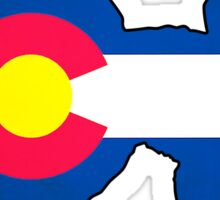 Colorado flag poodle dog Sticker