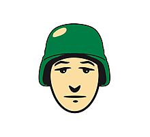 Face helmet soldier Photographic Print